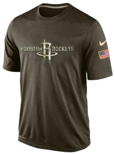 Nike Houston Rockets Olive Salute To Service Men's Dri-Fit T-Shirt