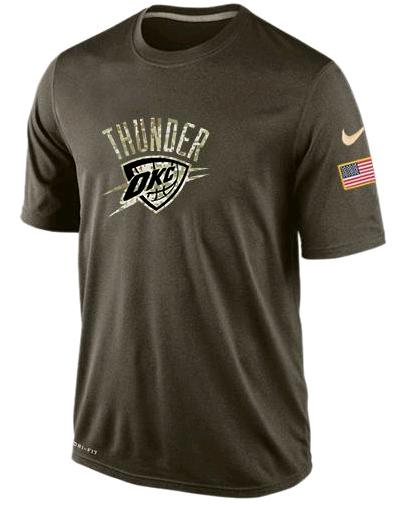 Nike Oklahoma City Thunder Olive Salute To Service Men's Dri-Fit T-Shirt