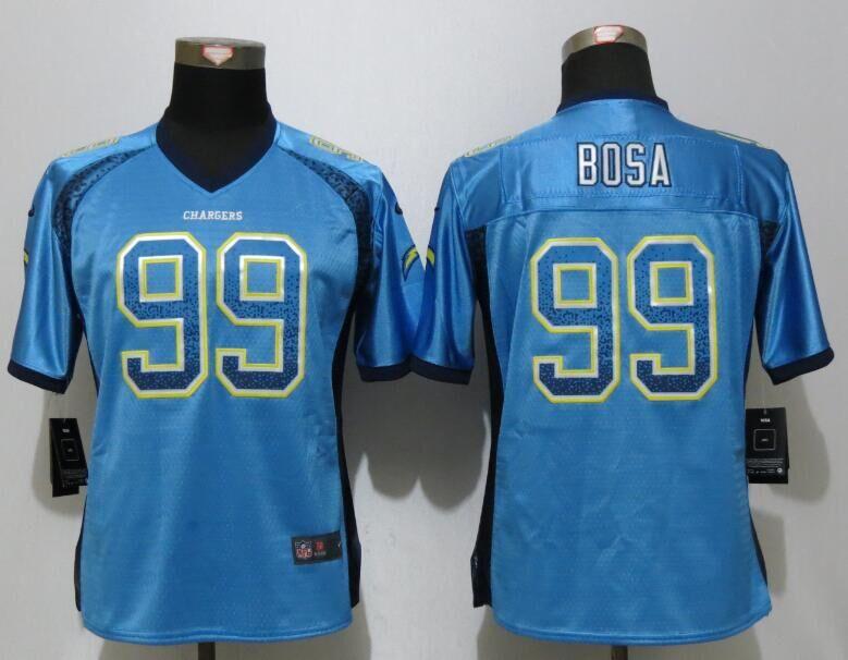 Nike Chargers 99 Joey Bosa Blue Women Drift Fashion Jersey