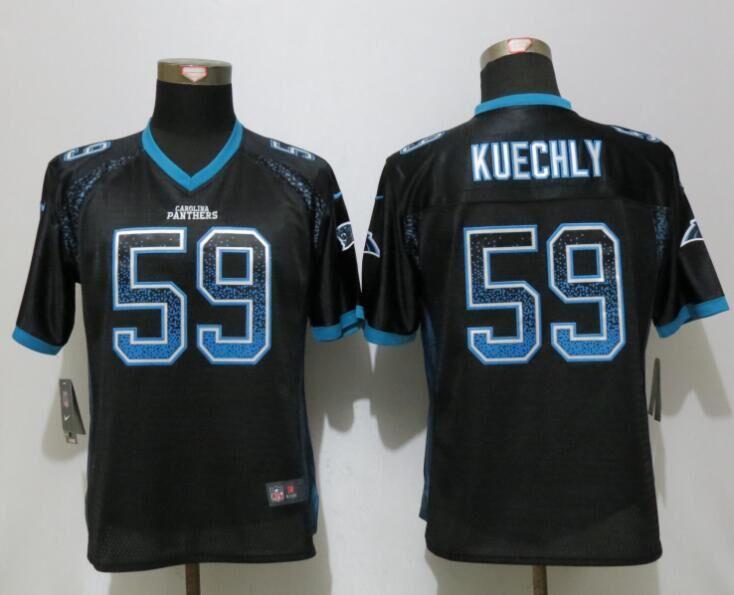 Nike Panthers 59 Luke Kuechly Black Women Drift Fashion Jersey