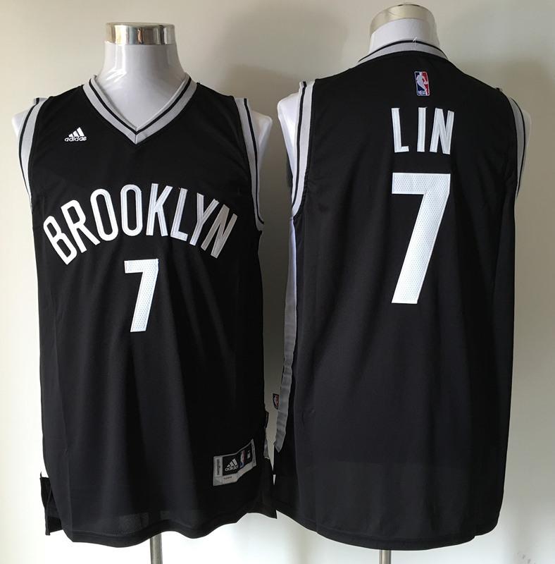 Nets 7 Jeremy Lin Black Swingman Jersey