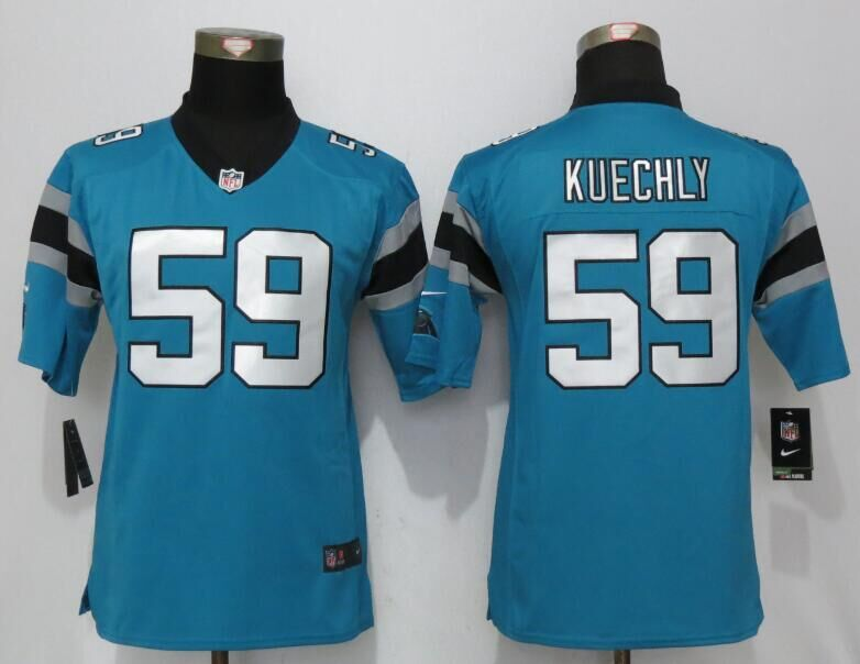 Nike Panthers 59 Luke Kuechly Blue Youth Game Jersey