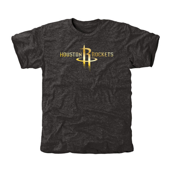 Houston Rockets Gold Collection Tri Blend T-Shirt Black