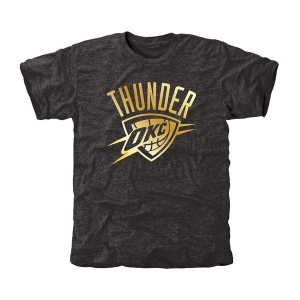 Oklahoma City Thunder Gold Collection Tri Blend T-Shirt Black