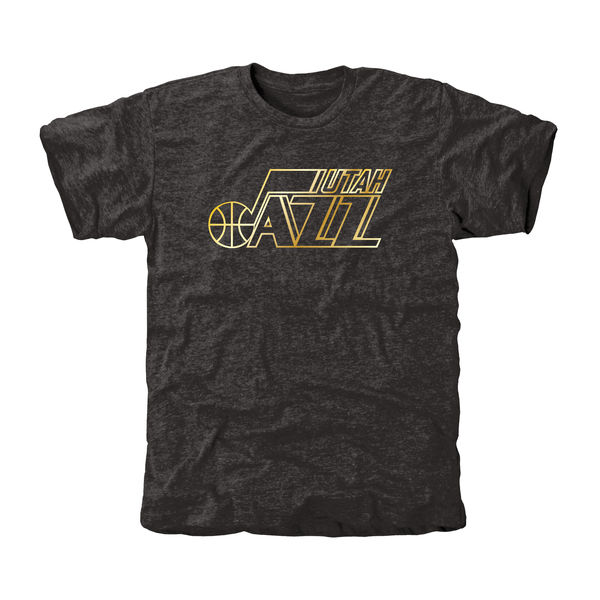 Utah Jazz Gold Collection Tri Blend T-Shirt Black