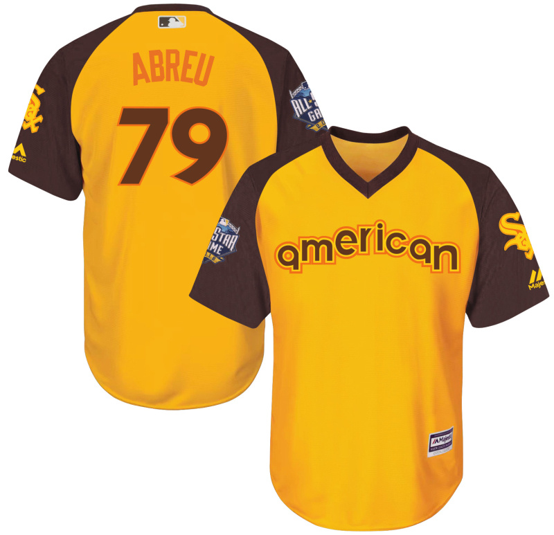 White Sox 79 Jose Abreu Yellow Youth 2016 All-Star Game Cool Base Batting Practice Player Jersey