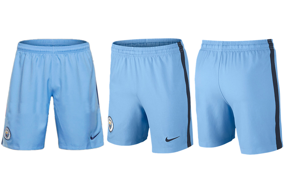 2016-17 Manchester City Home Soccer Shorts