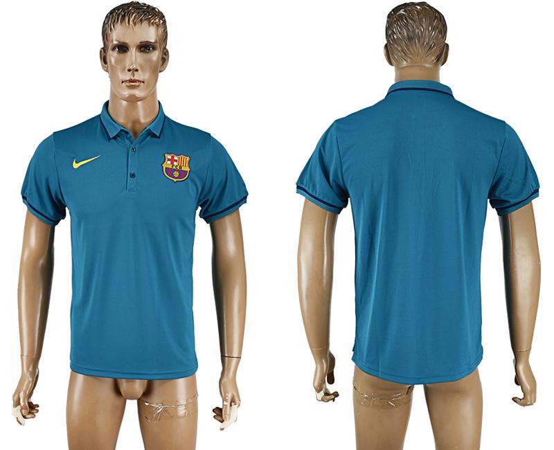 Barcelona Light Blue Men's Polo Shirt