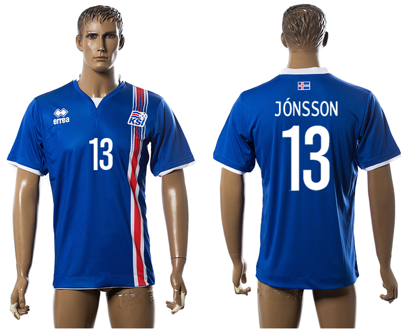 Iceland 13 JONSSON Home UEFA Euro 2016 Thailand Jersey