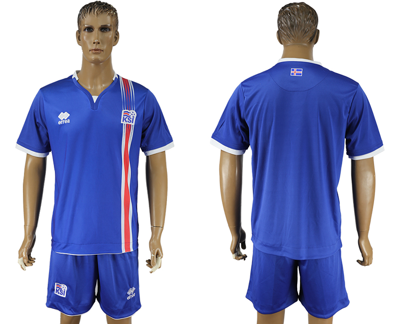 Iceland Home UEFA Euro 2016 Soccer Jersey