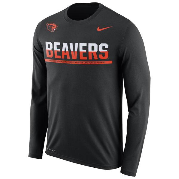 Oregon State Beavers Nike 2016 Staff Sideline Dri-Fit Legend Long Sleeve T-Shirt Black