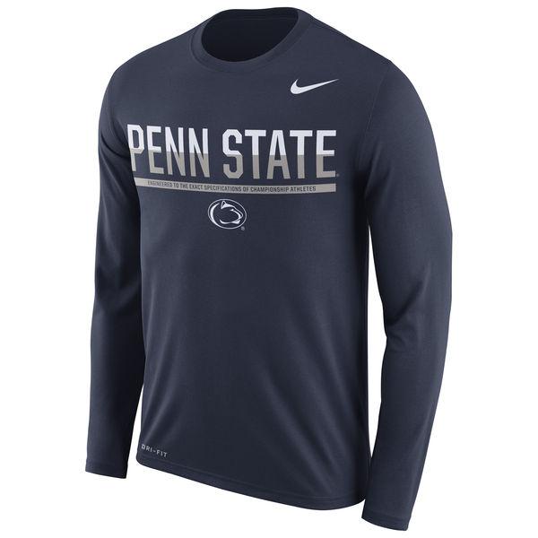 Penn State Nittany Lions Nike 2016 Staff Sideline Dri-Fit Legend Long Sleeve T-Shirt Navy