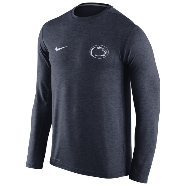 Penn State Nittany Lions Nike Stadium Dri-Fit Touch Long Sleeve T-Shirt Navy
