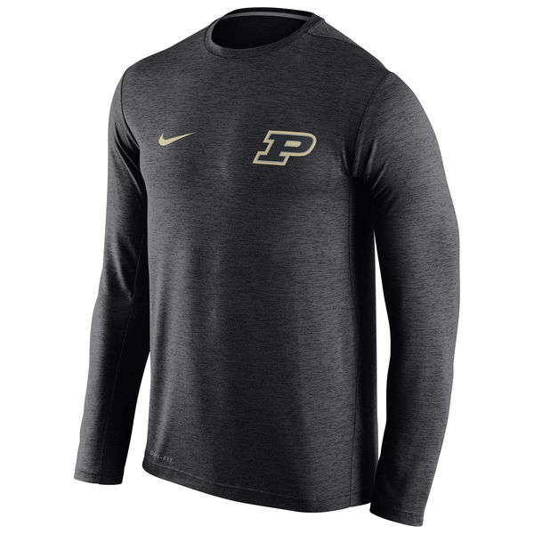 Purdue Boilermakers Nike Stadium Dri-Fit Touch Long Sleeve T-Shirt Black
