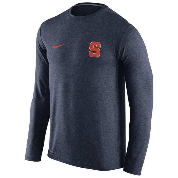 Syracuse Orange Nike Stadium Dri-Fit Touch Long Sleeve T-Shirt Navy