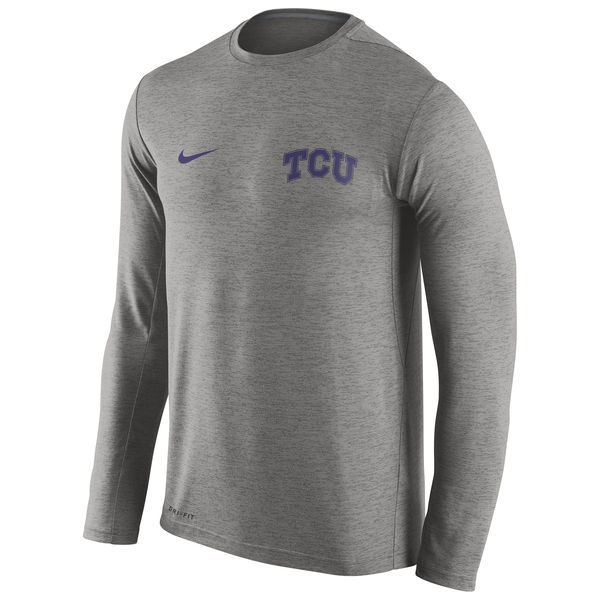 TCU Horned Frogs Nike Stadium Dri-Fit Touch Long Sleeve T-Shirt Grey