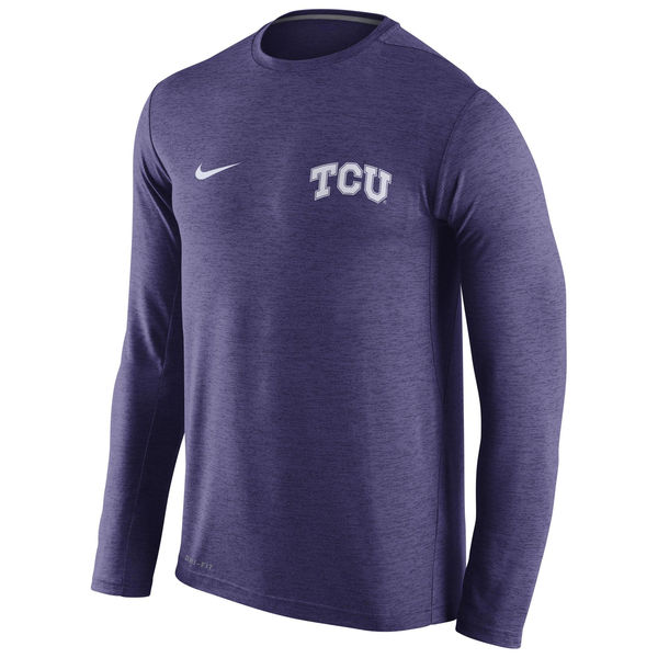 TCU Horned Frogs Nike Stadium Dri-Fit Touch Long Sleeve T-Shirt Purple