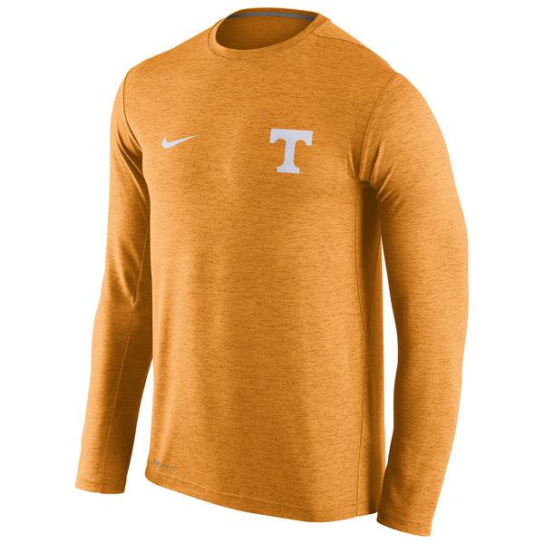 Tennessee Volunteers Nike Stadium Dri-Fit Touch Long Sleeve T-Shirt Heather Orange