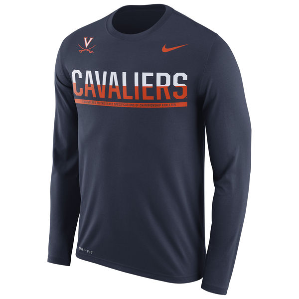 Virginia Cavaliers Nike 2016 Staff Sideline Dri-Fit Legend Long Sleeve T-Shirt Navy