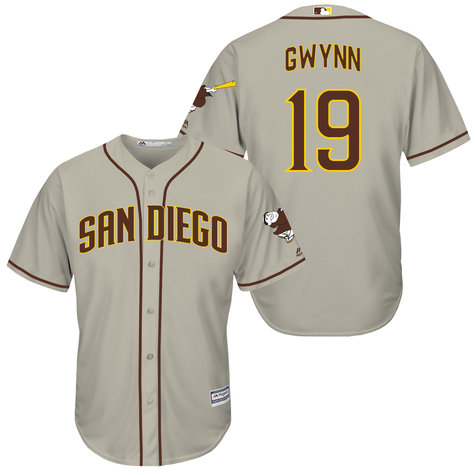 Padres 19 Tony Gwynn Grey New Cool Base Jersey
