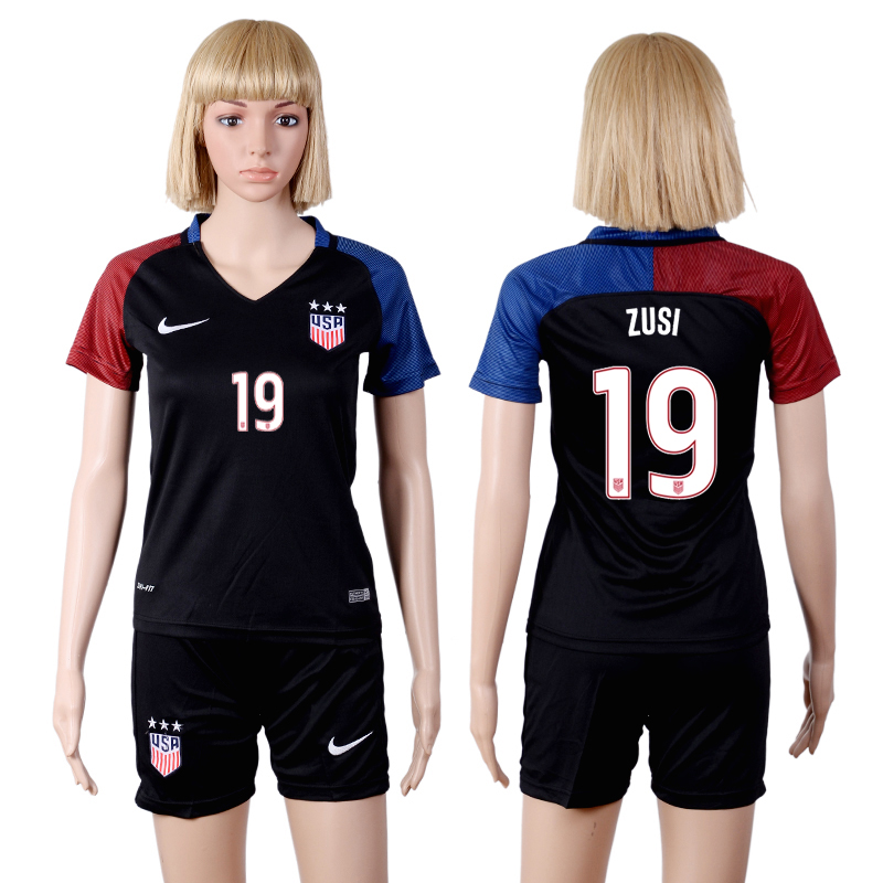 2016-17 USA 19 ZUSI Away Women Soccer Jersey