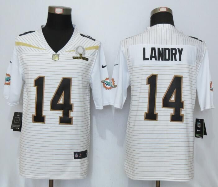Nike Dolphins 14 Jarvis Landry White 2016 Pro Bowl Elite Jersey