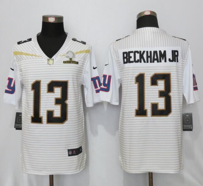 Nike Giants 13 Odell Beckham Jr White 2016 Pro Bowl Elite Jersey