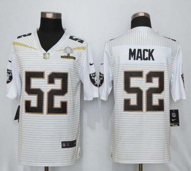 Nike Raiders 52 Khalil Mack White 2016 Pro Bowl Elite Jersey