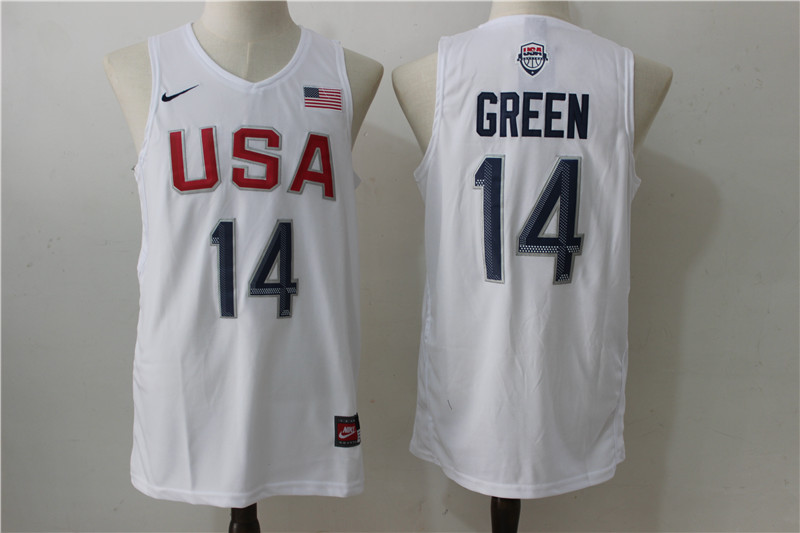 USA Basketball 14 Draymond Green White Nike Rio Elite Stitched Jersey