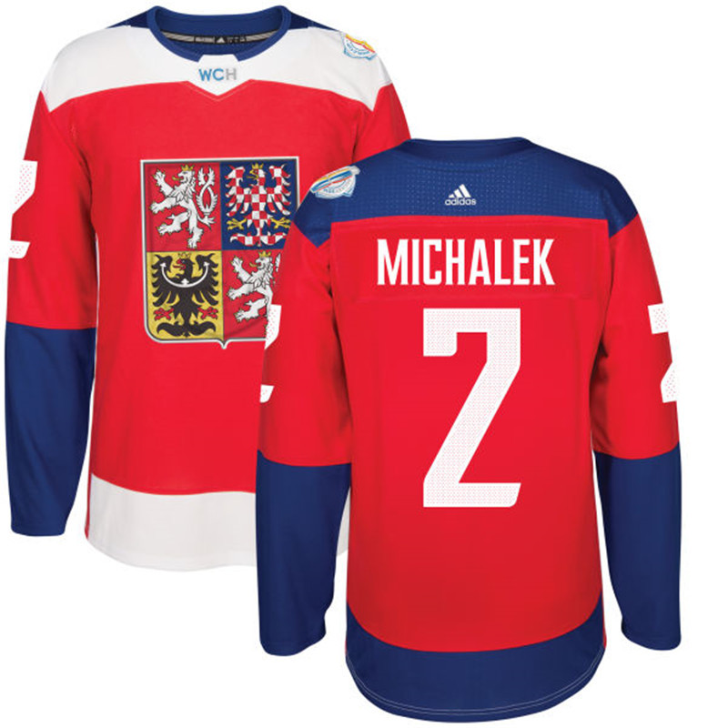 Czech Republic 2 Milan Michalek Red 2016 World Cup Of Hockey Premier Player Jersey