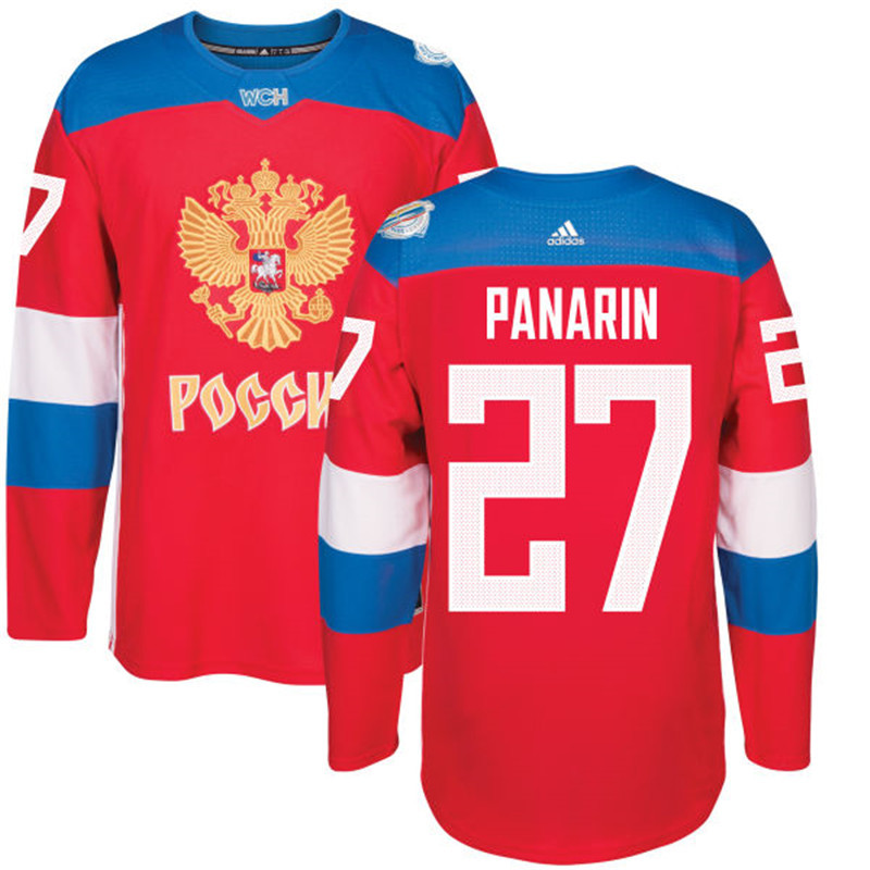 Russia 27 Artemi Panarin Red 2016 World Cup Of Hockey Premier Player Jersey