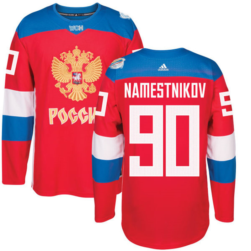 Russia 90 Vladislav Namestnikov Red 2016 World Cup Of Hockey Premier Player Jersey