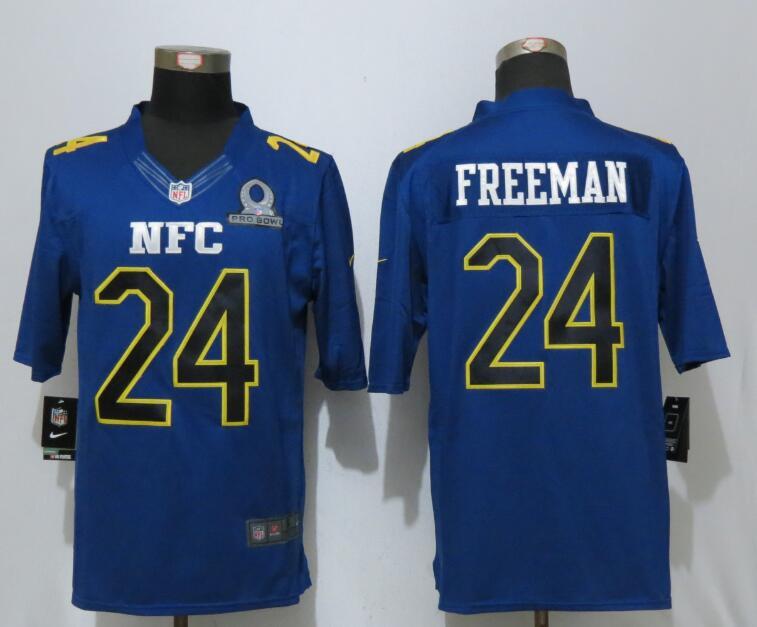 Nike Falcons 24 Devonta Freeman Blue 2017 Pro Bowl Limited Jersey