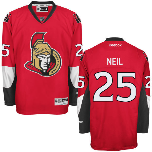 Senators 25 Chris Neil Red Reebok Premier Jersey
