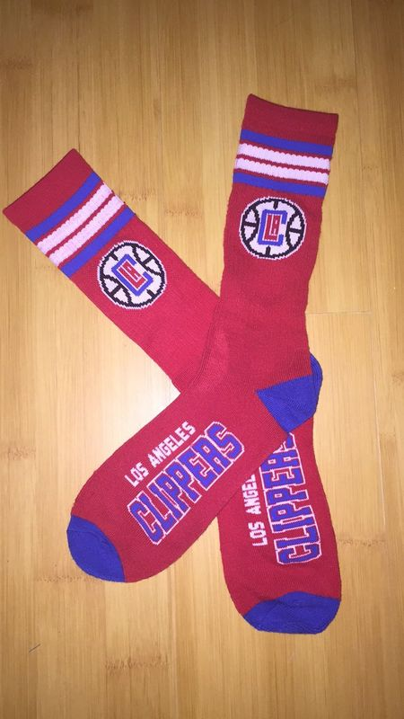 Clippers Team Logo Red NBA Socks