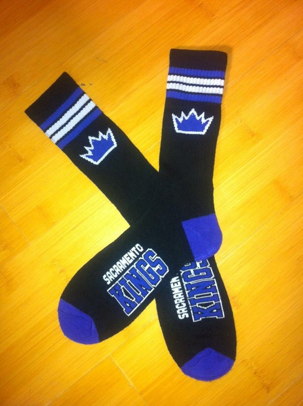 Kings Team Logo Black NBA Socks