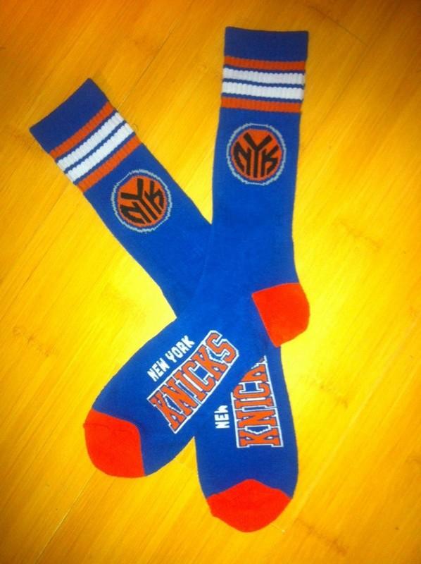 Knicks Team Logo Blue NBA Socks