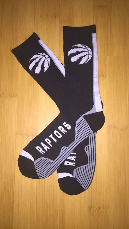 Raptors Team Logo Black NBA Socks