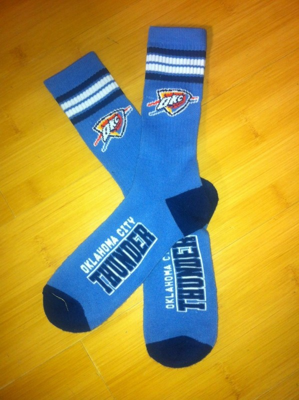 Thunder Team Logo Blue NBA Socks