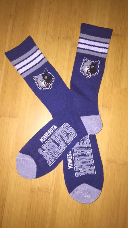 Wolves Team Logo Blue NBA Socks