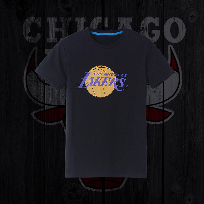 Lakers Fresh Logo Black Men's Short Sleeve T-Shirt