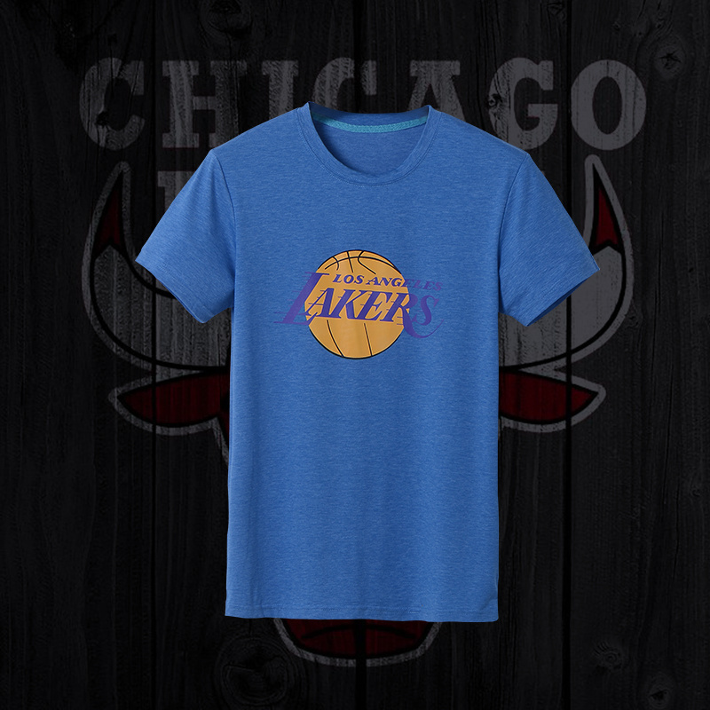 Lakers Fresh Logo Blue Men's Short Sleeve T-Shirt