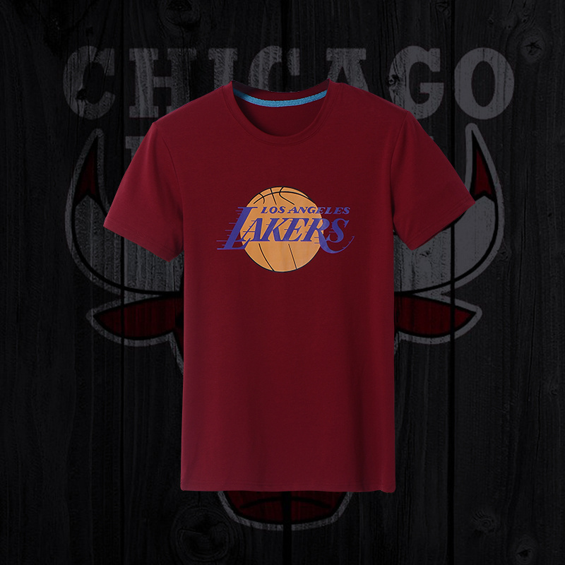 Lakers Fresh Logo D.Red Men's Short Sleeve T-Shirt