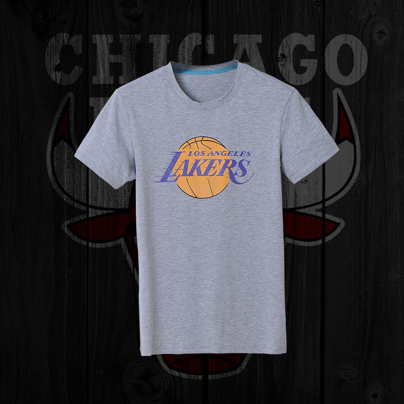 Lakers Fresh Logo Grey Men's Short Sleeve T-Shirt