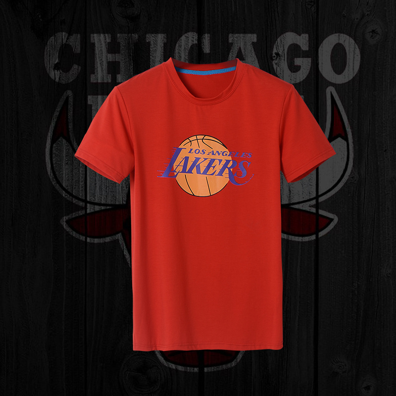 Lakers Fresh Logo Red Men's Short Sleeve T-Shirt