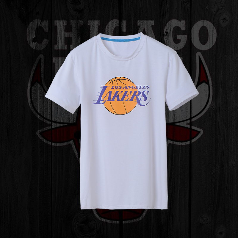 Lakers Fresh Logo White Men's Short Sleeve T-Shirt
