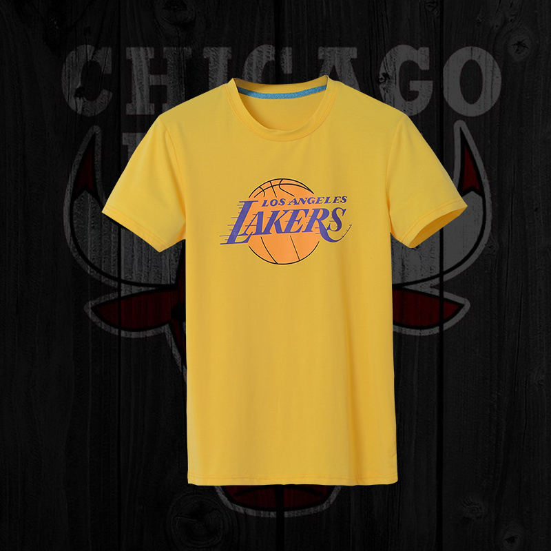 Lakers Fresh Logo Yellow Men's Short Sleeve T-Shirt