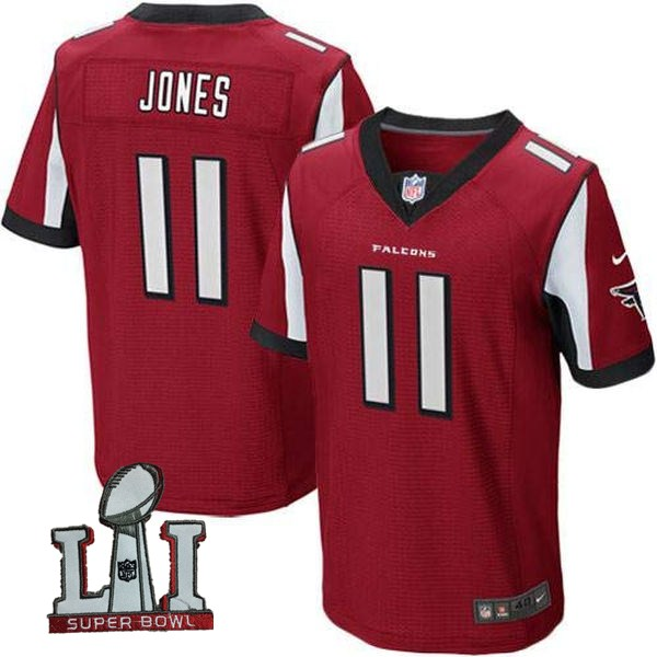 Nike Falcons 11 Julio Jones Red 2017 Super Bowl LI Elite Jersey