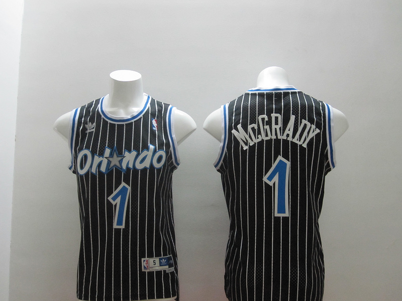 Magic 1 McGrady Black Swaingman Jerseys