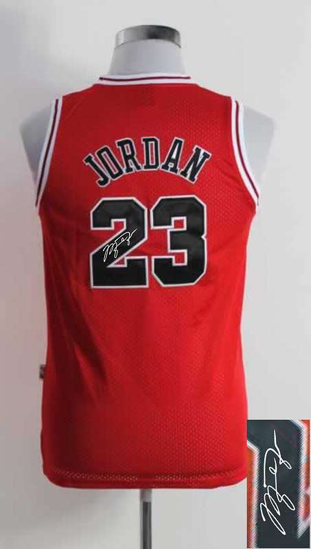 Bulls 23 Jordan Red Signature Edition Women Jerseys
